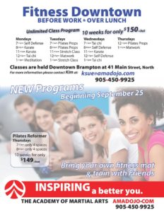 Downtown Brampton Daytime Fitness Program